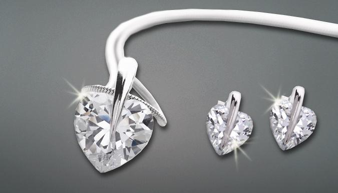 Solitaire Heart Jewellery Set