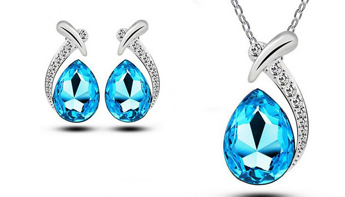 Cheapest price of 'Angelina' Crystal Droplet Set in new is £17.99