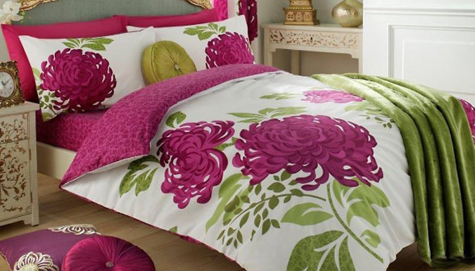 Flower Print Duvet Set