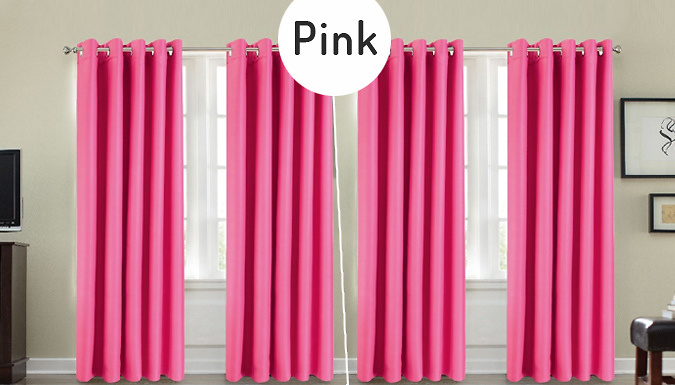 Thermal Blackout Eyelet Curtains - 5 Sizes & Colours