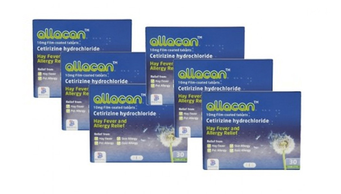 6 or 12 Month Supply of Cetirizine Hayfever Tablets (10mg)