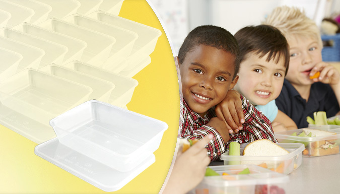 Save on Clear Plastic Storage Containers - 50 or 100-Piece Bundles from Go Groopie