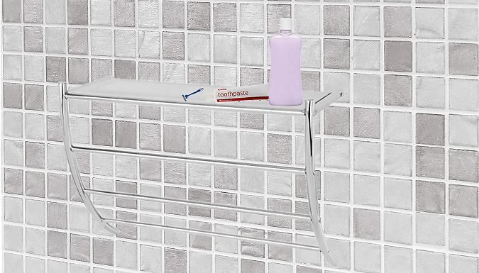 Wall Mounted Bathroom Rack & Towel Holder
