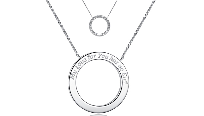 Compare retail prices of 'My Love For You Has No End' Pendant with Crystals from Swarovski to get the best deal online