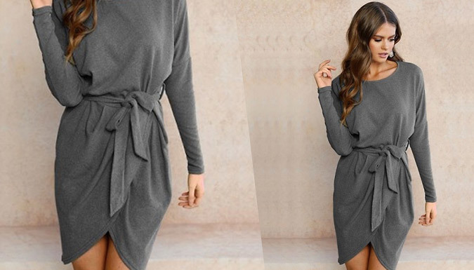 Long-Sleeved Wrap Dress - 4 Colours
