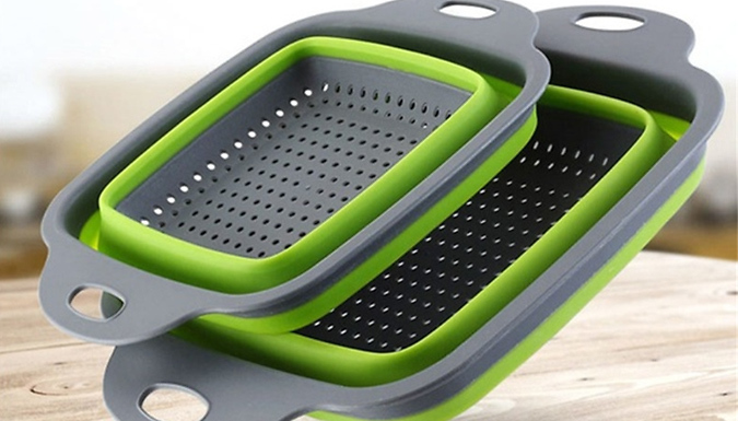 Collapsible Sieve Basket - 4 Colours & 2 Sizes