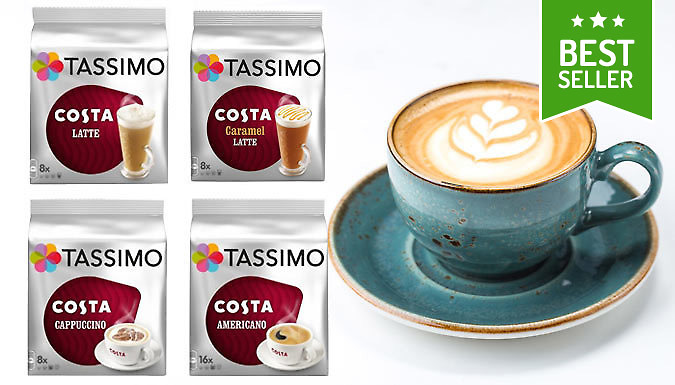 48 Tassimo Costa Coffee Pods - Variety Pack Options!