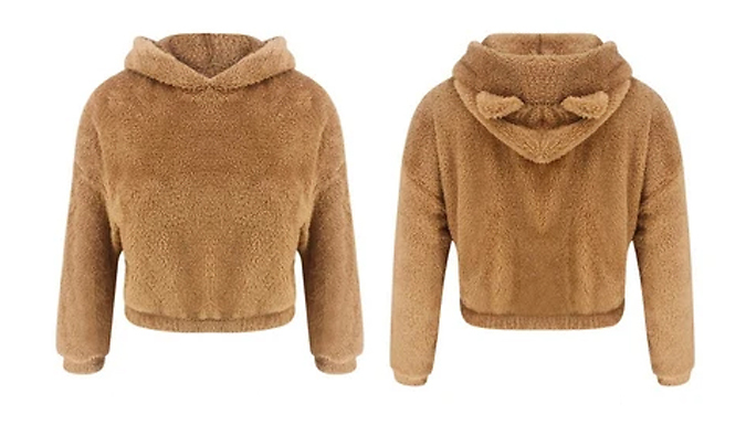 Teddy Bear Hoodie With Ears - 4 Colours & 4 Sizes