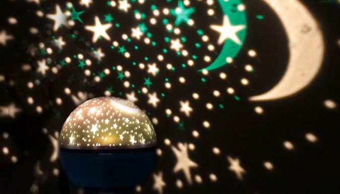 Kids' Rotating Star Projection Night Light - 3 Colours