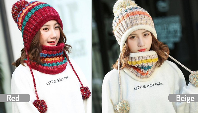 Women's Matching Hat & Scarf - 6 Colours