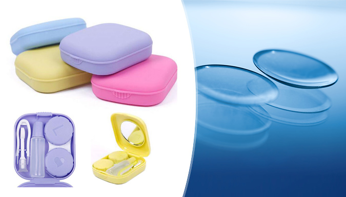 Mini Contact Lens Case  4 Colours