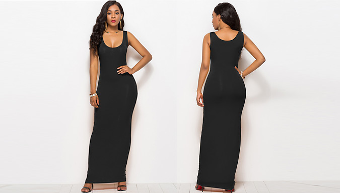 Bodycon Maxi Vest Dress - 4 Colours & 3 Sizes