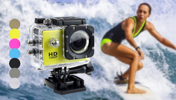 1080p HD Action Camera  7 Colours
