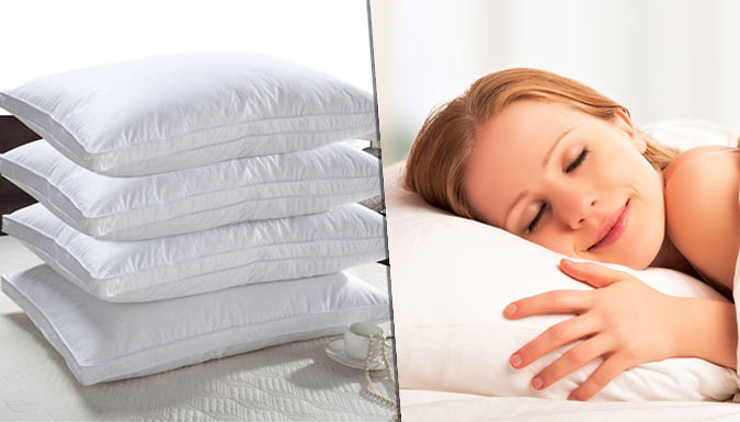 90% Off – Hotel Quality Extra-Filled Duck Feather Pillows – 2 or 4 – National Deal (£8 at Go Groopie)