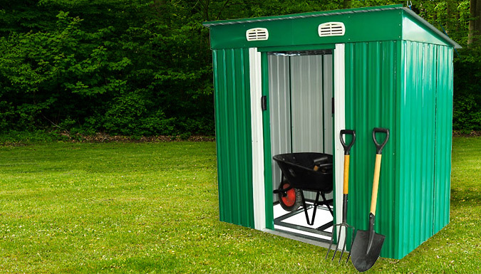 Large 6ft Metal Garden Shed with Lock