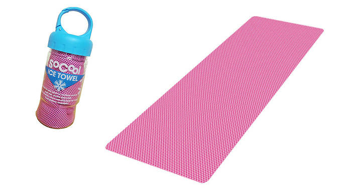 Instant Cooling Towel with Hand Carry Case - 2 Colours