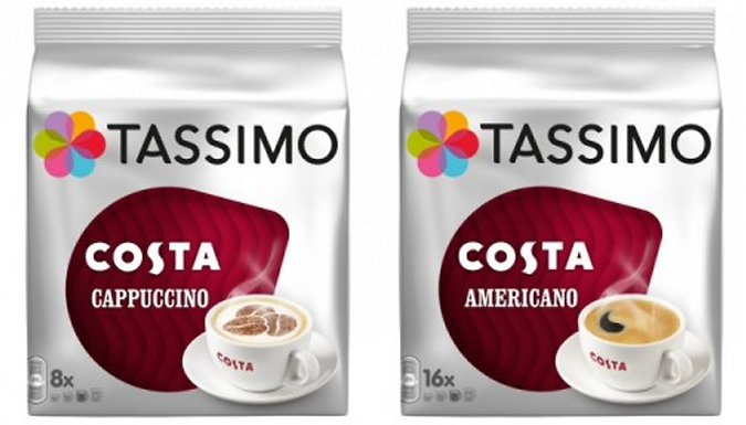 62% Off – 3 Packs of Tassimo Costa Coffee (48 Pods Total) – 24, 32 or 48 Drinks – National Deal (£13 at Go Groopie)