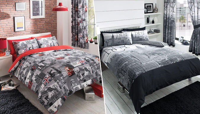 City Themed Duvet Set  2 Styles and 4 Sizes