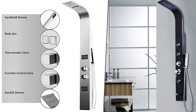 Save on Stainless Steel Shower Panel - 4 Options from Go Groopie