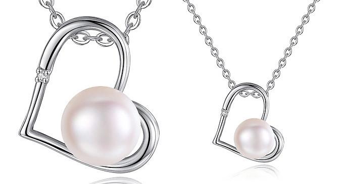 Genuine Diamond and Freshwater Pearl Pendant