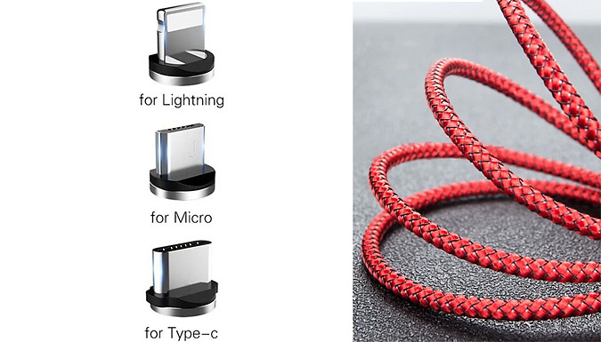 Nylon Braid Lightning USB Charging Cable - 3 Options & 5 Colours from Domosecret