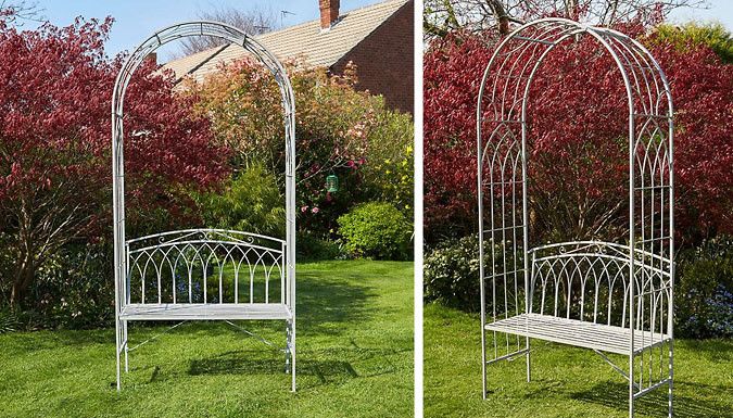 Ornate Arbour Bench - 2 Colours