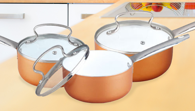 6-Piece Copper Effect Pan Set