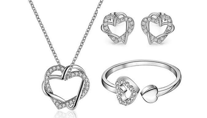 'Brilliant Shine' Swarovski Elements Jewellery Set