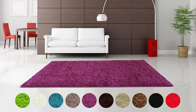 Modern Shaggy Rug 10 Colours 6 Sizes