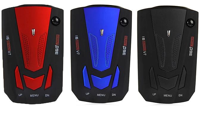 Speed Camera Laser & Radar Detector - 3 Colours from GoGroopie