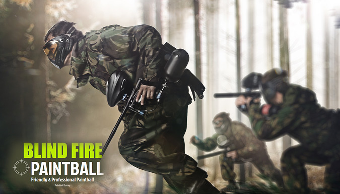 Group Paintballing, Surrey; Lunch, Equipment and Paintballs included