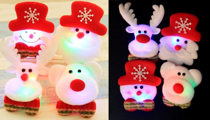 Cute LED Christmas Brooch  5 Designs
