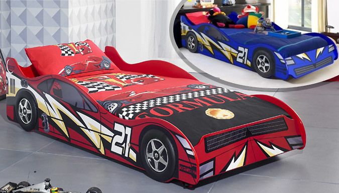 Lightning Race Car Bed - Red or Blue