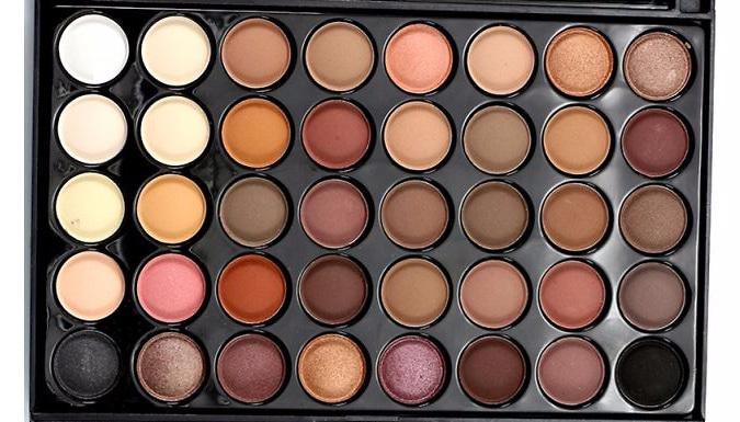 40-Colour Professional Eyeshadow Palette - 2 Colours