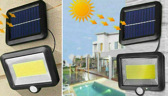 100 LED Solar Motion Sensor Garden Wall Light