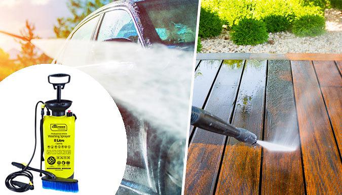 8L High Pressure Washer & Sprayer  With Brush Attachment