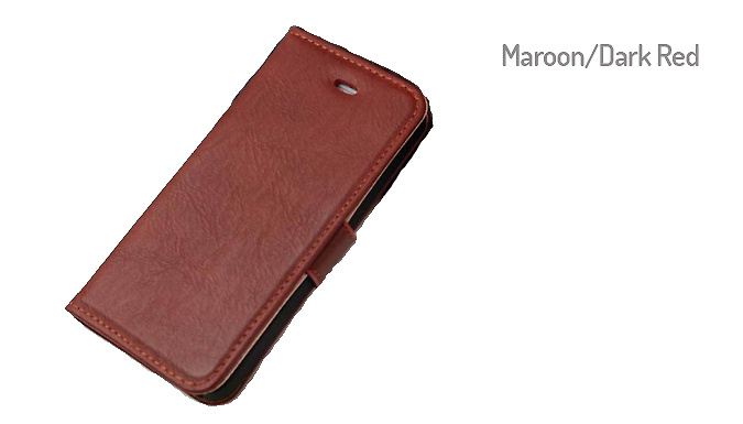 Wallet Stand Case for iPhone 5 / 5S, 6S or 6 Plus - 3 Colours