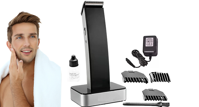 7 Piece Cordless Rechargeable Hair Trimmer with Charging Dock