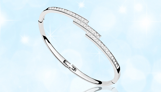Swarovski Elements Triple Crystal Row Bracelet  1 or 2