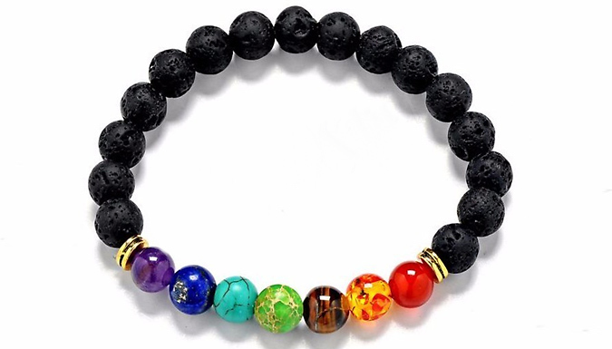 Compare retail prices of 1, 2 or 4 Lava Stones Chakra Bracelets - 7 Styles to get the best deal online