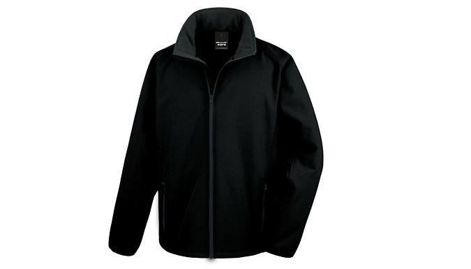 Men's Printable Softshell Jacket - 2 Sizes