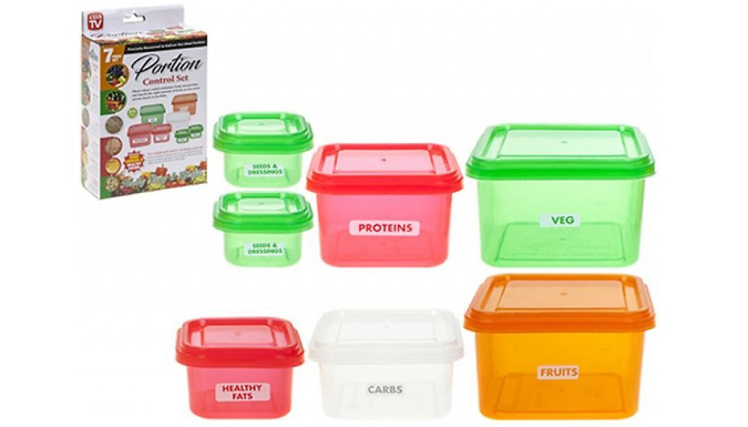 14-Piece Portion Control Tupperware Set from London exchainstore