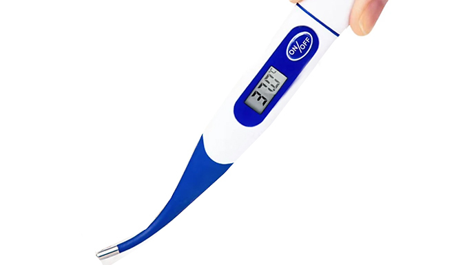LCD FlexiTip Digital Thermometer - 2 Colours from Domosecret