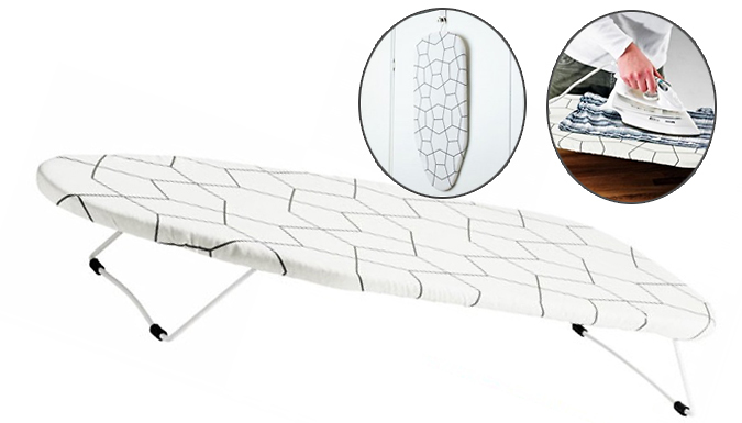 Save on Travel Ironing Board with Graphic-Print Cover from Go Groopie