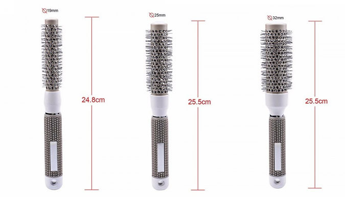 Nano-Thermal Ionic Hair Brushes - 5 Sizes