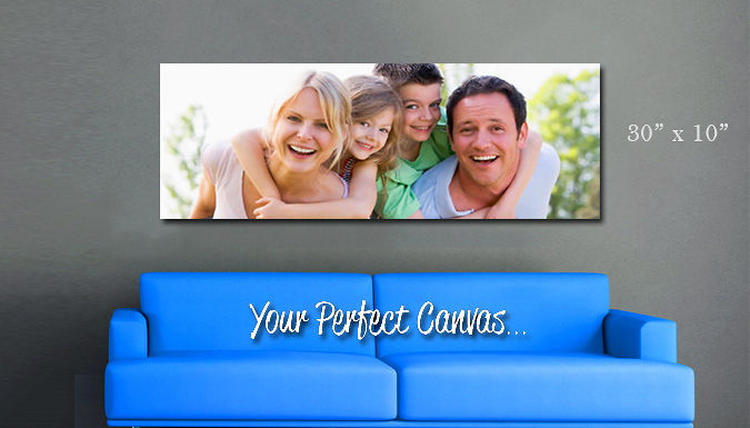Personalised 30 x 10 inch Panoramic Canvas