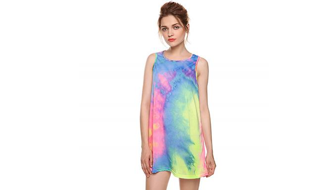 Fluorescent Tie-Dye Vest - 4 Sizes