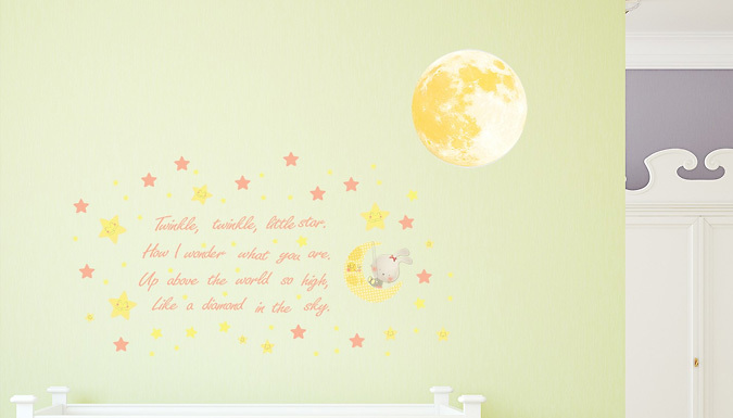Compare retail prices of 'Twinkle Twinkle Little Star' Glow-in-the-Dark Wall Sticker to get the best deal online