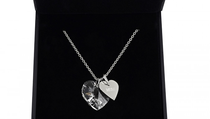 Compare retail prices of 'Mum' Swarovski Elements 18K White Gold Plated Necklace to get the best deal online