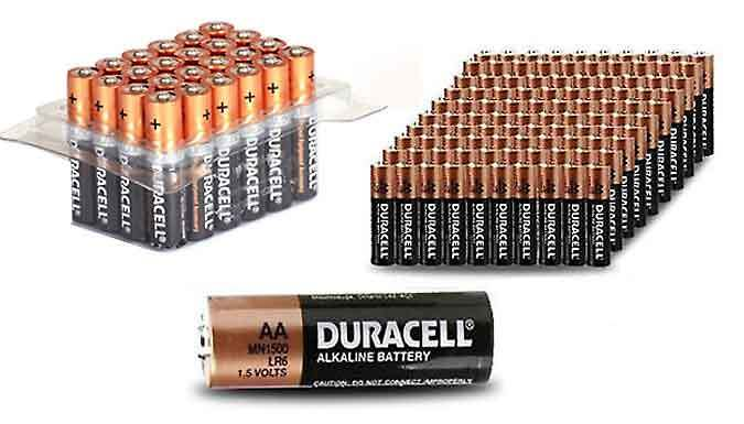 Duracell AA or AAA Batteries  Pack of 12 24 40 48 or 60